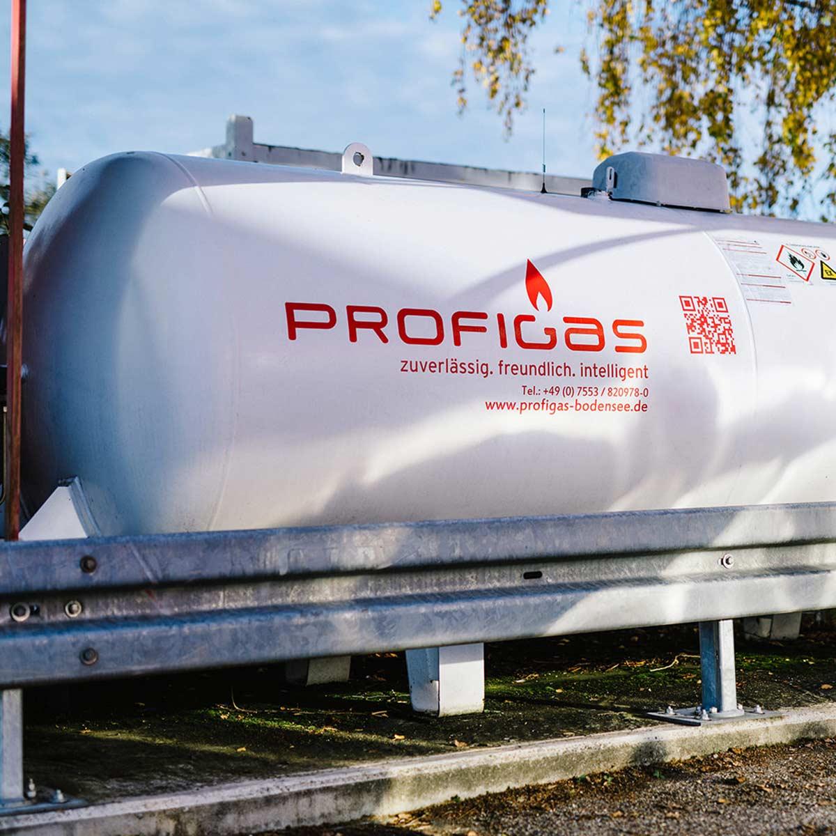 Profigas Tank an einer Autogas Tankstelle