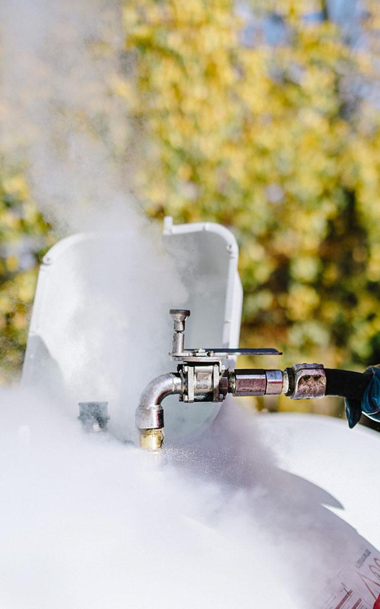 Flüssiggas Dampf