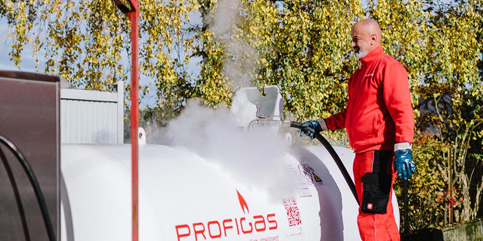 Auffüllen von Flüssiggas Tank