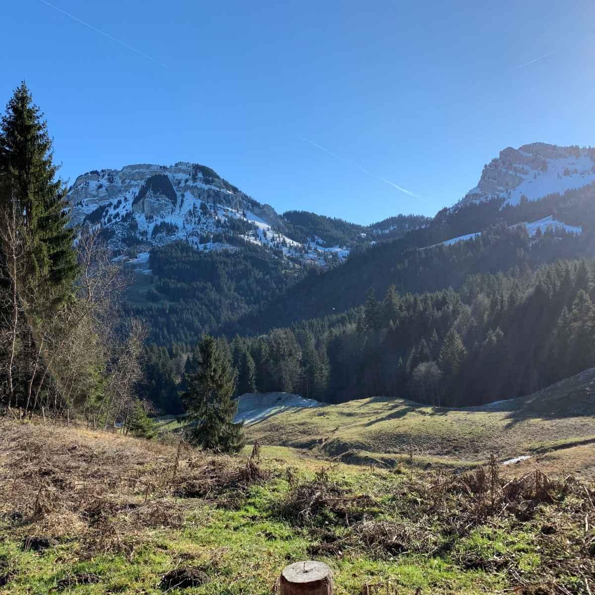 Bergpanorama in der Schweiz